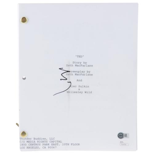 Mark Wahlberg Ted Autographed Full Movie Script - JSA