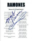 Marky Ramone Signed Autograph Ramones SHEENA IS A PUNK ROCKER Lyric Sheet COA