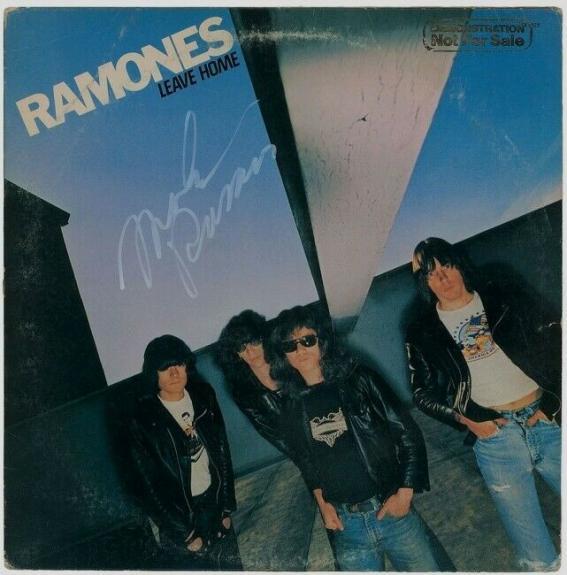 "Marky Ramone Signed RARE first pressing ""Leave Home"" Vinyl Album  BAS COA"