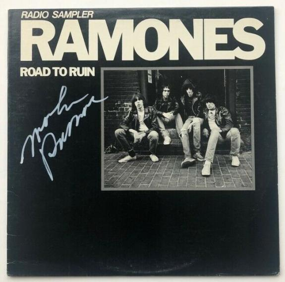 "Marky Ramone Signed ""Road To Ruin"" (Radio Sampler) Album   Beckett BAS COA"