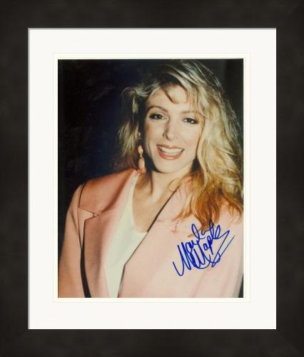 Marla Maples autographed 8x10 Photo (Actress, second wife of Donald Trump) #1Z Matted & Framed