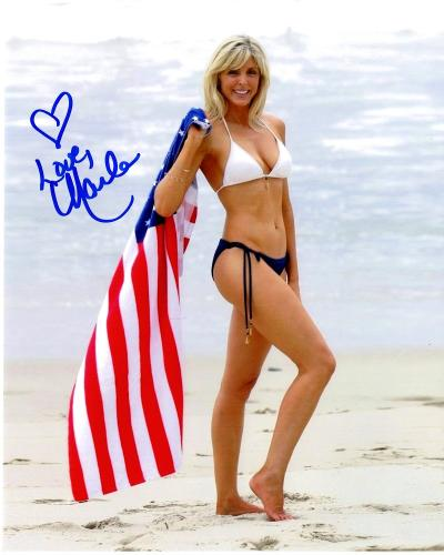 Marla Maples Signed - Autographed USA Flag 8x10 inch Photo - Donald Trump - Guaranteed to pass BAS