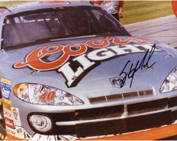 Sterling Marlin Autographed 8'' x 10'' Coors Light In Car Front View Photograph