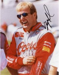 Sterling Marlin Autographed 8'' x 10'' Coors Light Laughing Glasses On Photograph
