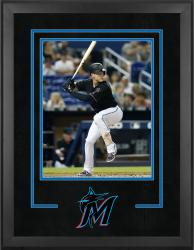"Miami Marlins Deluxe 16"" x 20"" Vertical Photograph Frame - Mounted Memories"