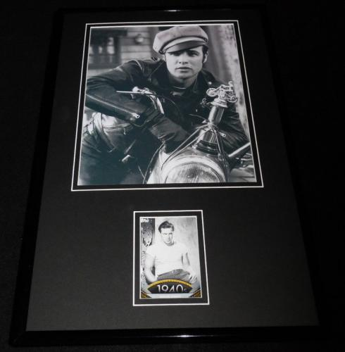 Marlon Brando 11x17 Framed ORIGINAL Topps Card & Photo Display