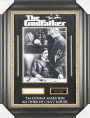 Marlon Brando & Al Pacino Signed Framed 11x14 Photo & Cut Signature Display BAS