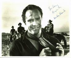 "Marlon Brando ""For Danny Regards"" One-Eyed Jacks Signed 8X10 Photo JSA #Y79058"