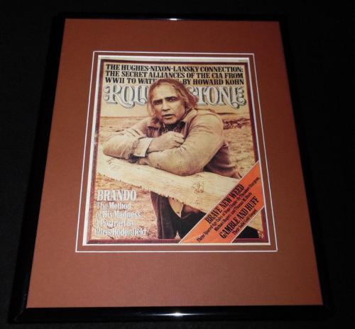 Marlon Brando Framed May 20 1976 Rolling Stone 11x14 Cover Display