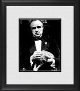 "Marlon Brando The Godfather Framed 8"" x 10"" Holding Cat Photograph"