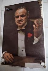 "Marlon Brando ""the Godfather"" Movie 1972 Paramount Pictures 23x35 Poster Rare"