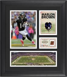Marlon  Brown Baltimore Ravens Framed 15'' x 17'' Collage with Game-Used Football
