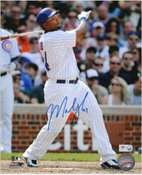 "Marlon Byrd Chicago Cubs Autographed 8"" x 10"" Batting Photograph"