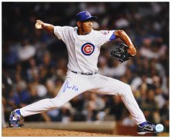 """Carlos Marmol Chicago Cubs Autographed 16"""" x 20"""" Pitching Photograph"""