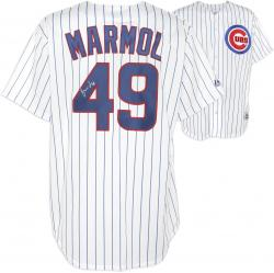 Carlos Marmol Chicago Cubs Autographed White Pinstripe Replica Jersey