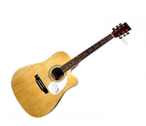 Maroon 5 Adam Levine Autographed Signed Natural Acoustic Guitar AFTAL UACC RD