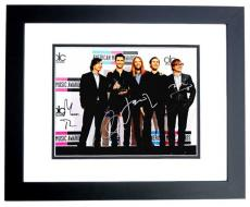 Adam Levine - Maroon 5 Signed - Autographed Complete Group 11x14 inch Photo - James Valentine, Matt Flynn, Jesse Carmichael, and Mickey Madden  - BLACK CUSTOM FRAME - Guaranteed to pass PSA or JSA