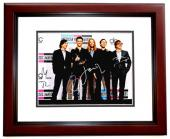 Adam Levine - Maroon 5 Signed - Autographed Complete Group 11x14 inch Photo - James Valentine, Matt Flynn, Jesse Carmichael, and Mickey Madden  - MAHOGANY CUSTOM FRAME - Guaranteed to pass PSA or JSA