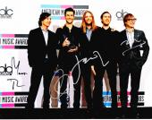 Adam Levine - Maroon 5 Signed - Autographed Complete Group 11x14 inch Photo - James Valentine, Matt Flynn, Jesse Carmichael, and Mickey Madden - Guaranteed to pass PSA or JSA