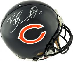 Brandon Marshall Chicago Bears Autographed Riddell Pro-Line Authentic Helmet - Mounted Memories