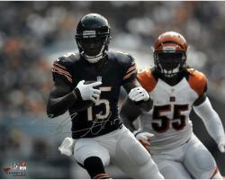 "Brandon Marshall Chicago Bears Autographed 16"" x 20"" vs. Cincinnati Bengals Photograph"