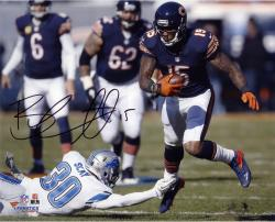 "Brandon Marshall Chicago Bears Autographed 8"" x 10"" Horizontal Running Photograph"