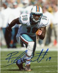 Brandon Marshall Miami Dolphins Autographed 8'' x 10'' Running Without Ball Photograph