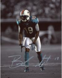 Brandon Marshall Miami Dolphins Autographed 8'' x 10'' Spotlight Green Jersey Photograph