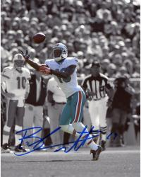 Brandon Marshall Miami Dolphins Autographed 8'' x 10'' Spotlight White Jersey Photograph