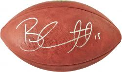 Brandon Marshall Chicago Bears Autographed Wilson Pro Football - Mounted Memories