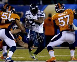"Marshawn Lynch Seattle Seahawks Super Bowl XLVIII Champions 16"" x 20"" Autographed Running Photo"