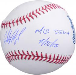 Starling Marte Pittsburgh Pirates Autographed Baseball with MLB Debut 7/26/12 Inscription