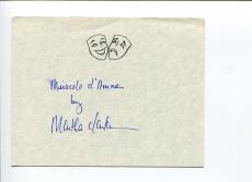 Martha Clarke Director Dance Choreographer Rare Signed Autograph
