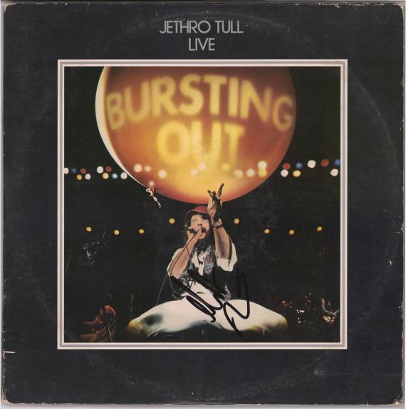 Martin Barre Jethro Tull Autographed Bursting Out Album - JSA