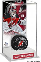 Martin Brodeur New Jersey Devils Deluxe Tall Hockey Puck Case
