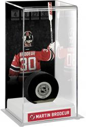 Martin Brodeur New Jersey Devils Jersey Retirement Night Deluxe Tall Hockey Puck Case