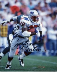 """Curtis Martin New England Patriots Autographed 8"""" x 10"""" Run with Ball Photograph"""