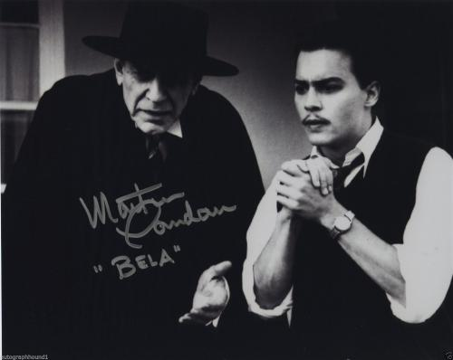 Martin Landau Bw Signed Autographed 8x10 Photo Ed Wood With Johnny Depp