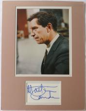 Martin Landau Signed Autographed Index Card Matted w/Photo (JSA) #E51230