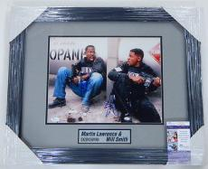 Martin Lawrence/Will Smith Signed 11 x 14 Color Photo Framed Matted JSA Auto