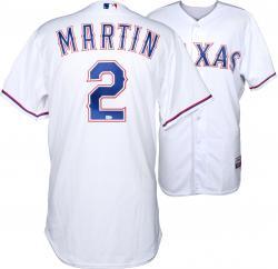Leonys Martin Texas Rangers 4/28/14 Game-Used White Jersey