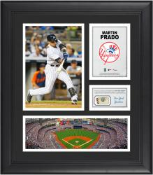 Martin Prado New York Yankees Framed 15'' x 17'' Collage with Piece of Game-Used Ball
