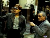 "Martin Scorsese Autographed 11"" x 14""  Gangs Of New York With Leonardo DiCaprio Photograph - PSA/DNA COA"