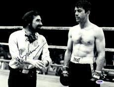 "Martin Scorsese Autographed 11"" x 14"" Raging Bull Standing Next To Robert De Niro Photograph - PSA/DNA COA"
