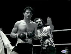 "Martin Scorsese Autographed 11"" x 14"" Raging Bull Standing Next To Robert De Niro Wearing Clash Shirt Photograph - PSA/DNA COA"