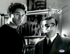 "Martin Scorsese Autographed 11"" x 14"" Raging Bull Standing Next To Robert De Niro Wearing Suit Photograph - PSA/DNA COA"