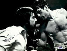 "Martin Scorsese Autographed 11"" x 14"" Raging Bull  Staring At Robert De Niro Photograph - PSA/DNA COA"