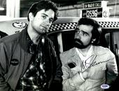 "Martin Scorsese Autographed 11"" x 14"" Taxi Driver With Robert De Niro Standing In Front of Cab  Photograph - PSA/DNA COA"
