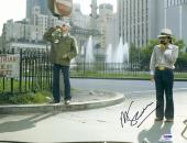 """Martin Scorsese Autographed 11"""" x 14"""" Taxi Driver With Robert De Niro Wearing White Hat Taxi Driver Photograph - PSA/DNA COA"""