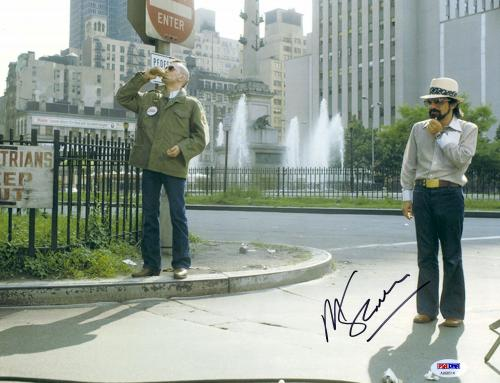 "Martin Scorsese Autographed 11"" x 14"" Taxi Driver With Robert De Niro Wearing White Hat Taxi Driver Photograph - PSA/DNA COA"